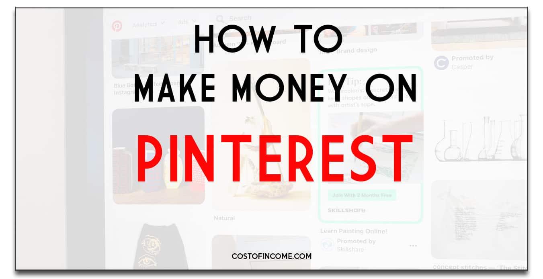 how to make money on pinterest new