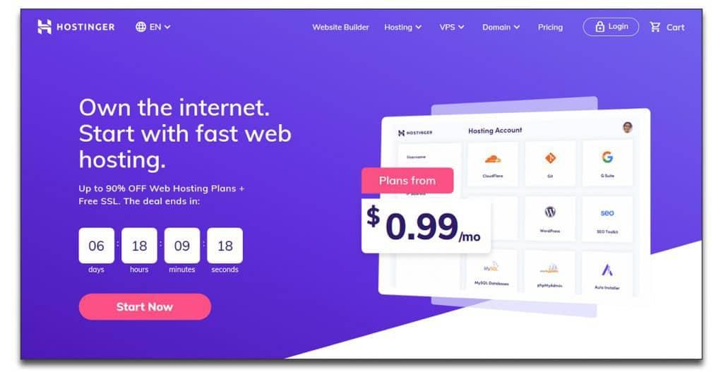 hostinger webhosting services