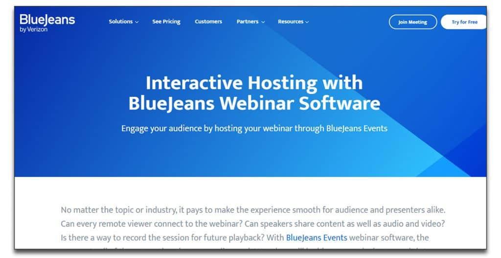 bluejeans webinar