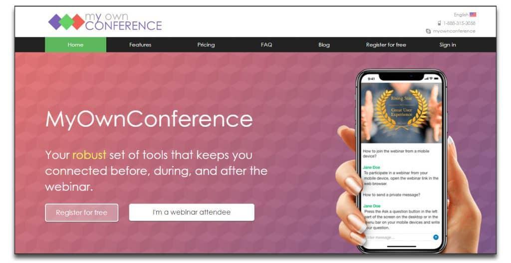 myownconference webinar software
