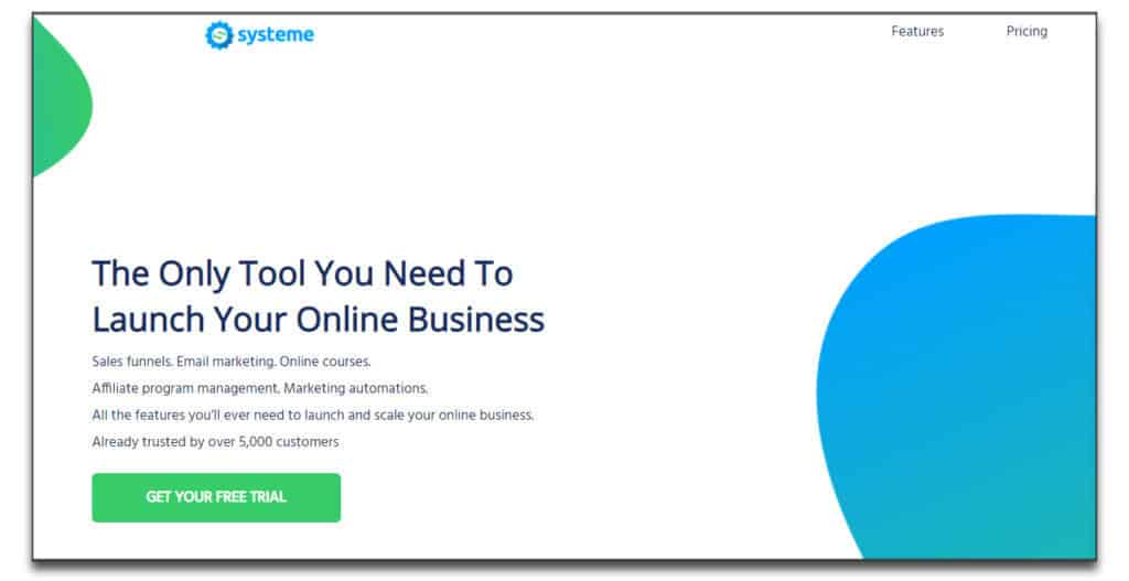 systeme io landing page builder