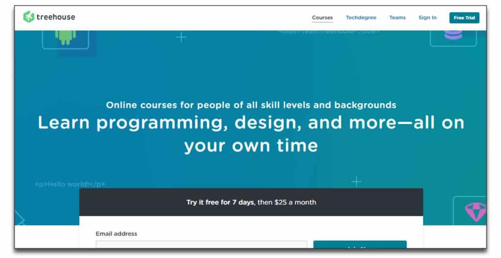 treehouse online course platform review