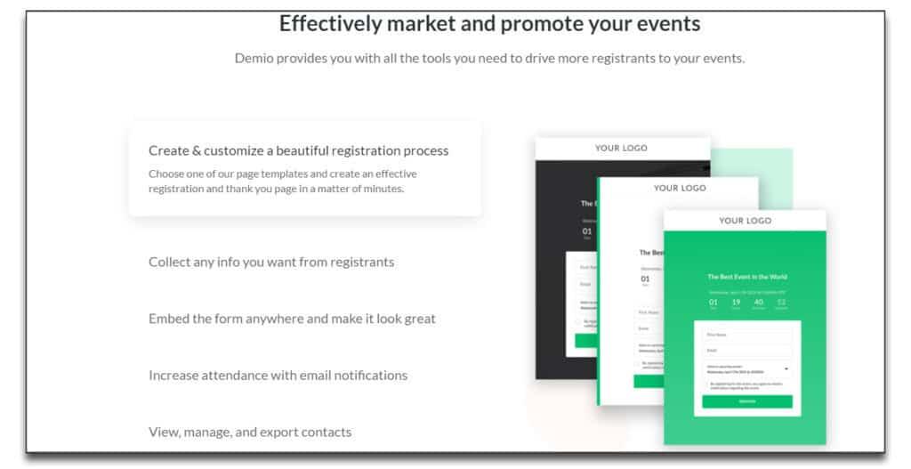 demio marketing features