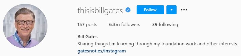bill gates instagram