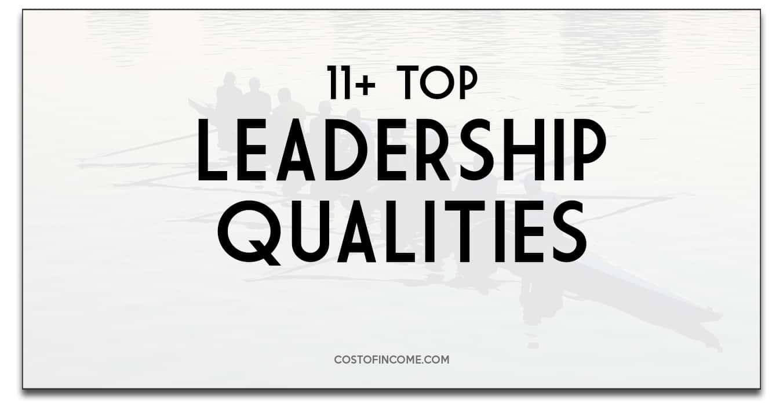 leadership qualities costofincome