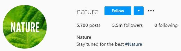 nature instagram