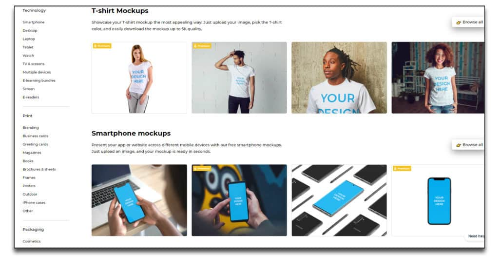 Smartmockups online mockup