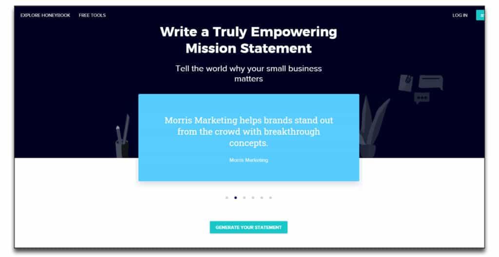 honeybook mission statement generator