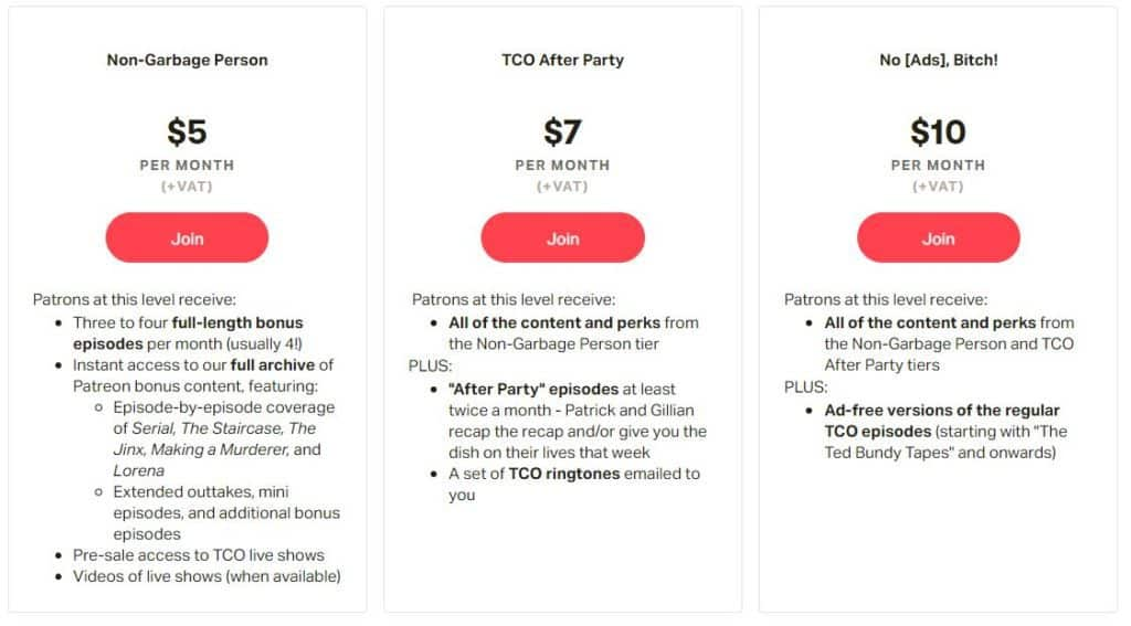 patreon tiers examples how to make money with patreon