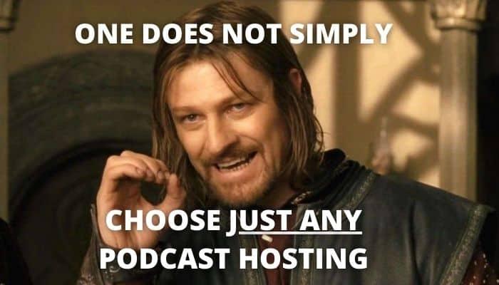 podcast hosting meme