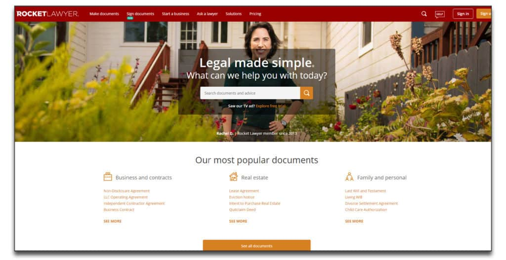 rocketlawyer review best online legal services