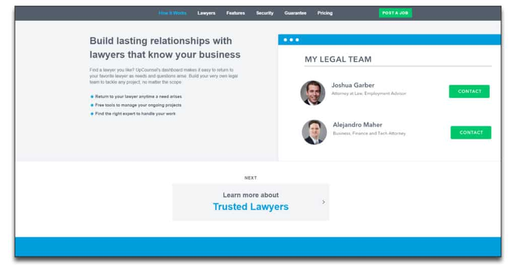 upcounsel review best online legal services