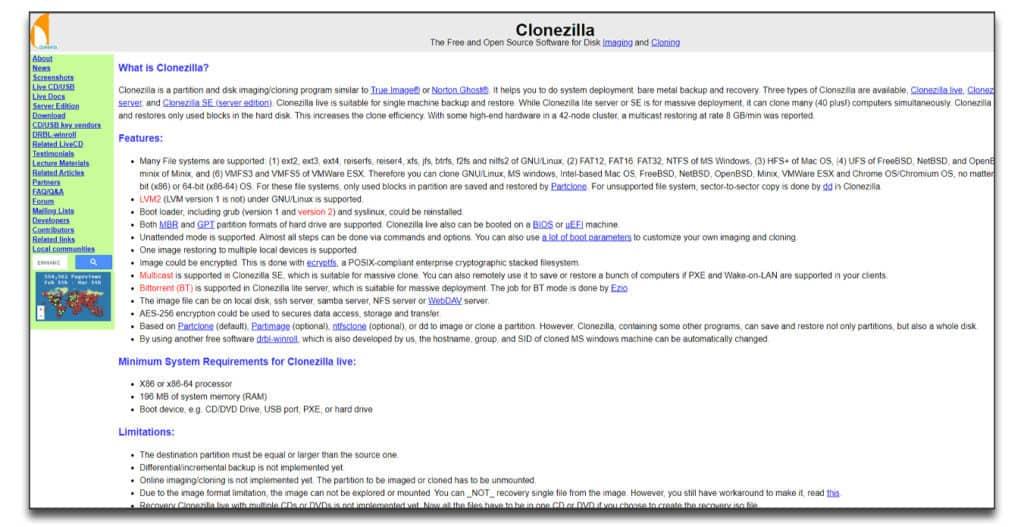 clonezilla data migration software