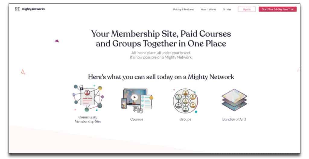 mighty networks membership site platforms