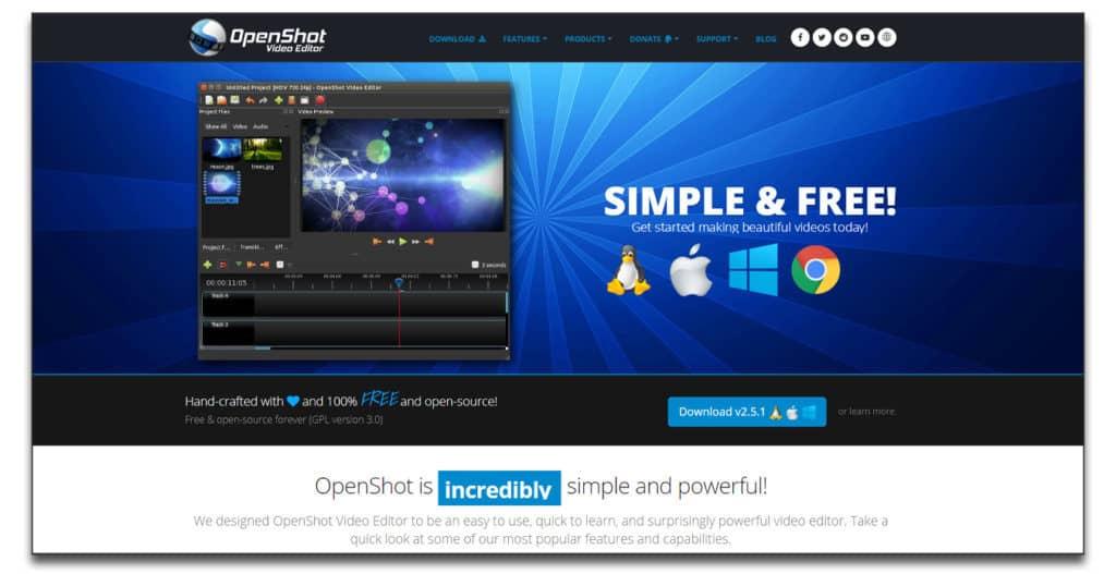 openshot Best Green Screen Software