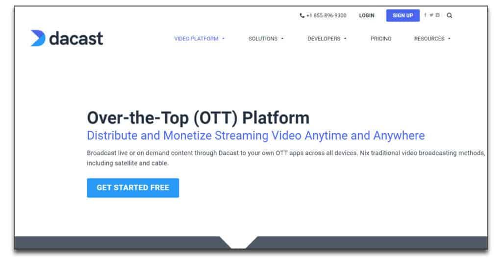 dacast OTT Platform