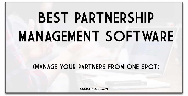 best partnership management software