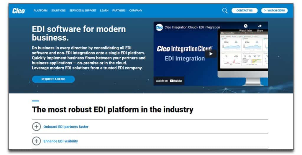 cleo integration cloud edi software