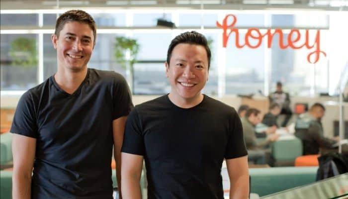 honey founders Ryan Hudson and George Ruan