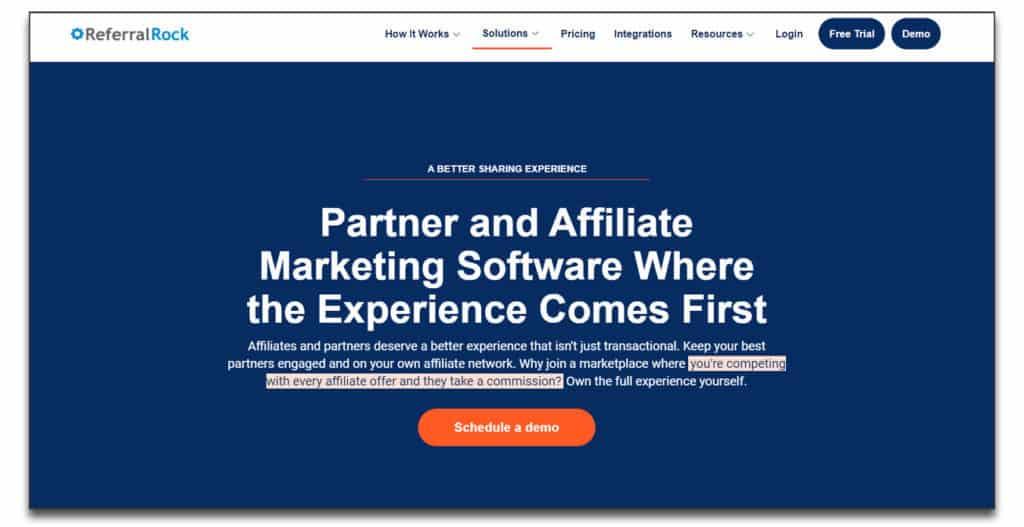 referral rock partnership management software