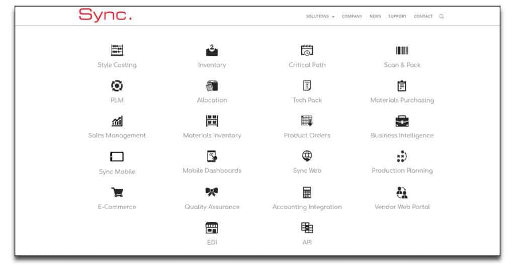 sync apparel software