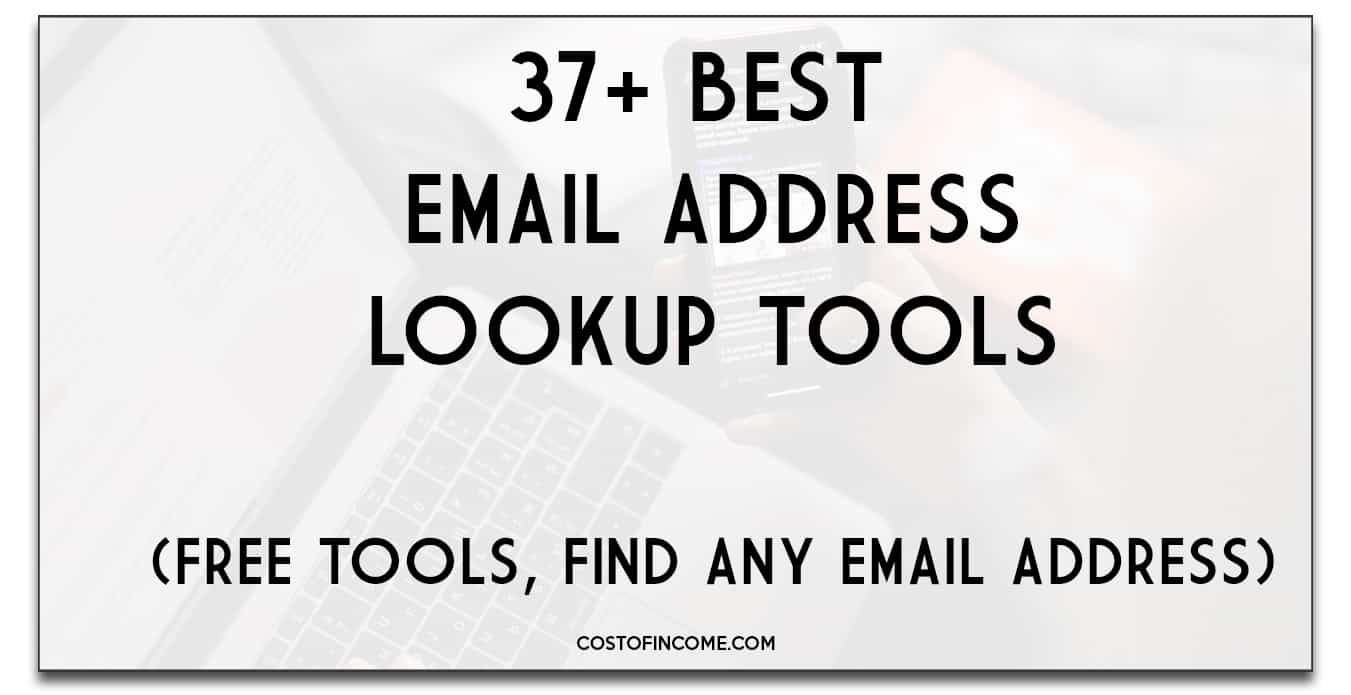 37 best email address lookup tools