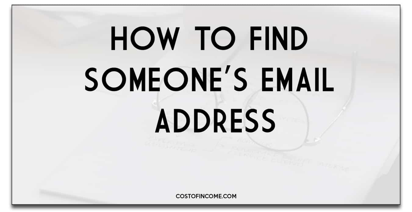 how to find someones email address