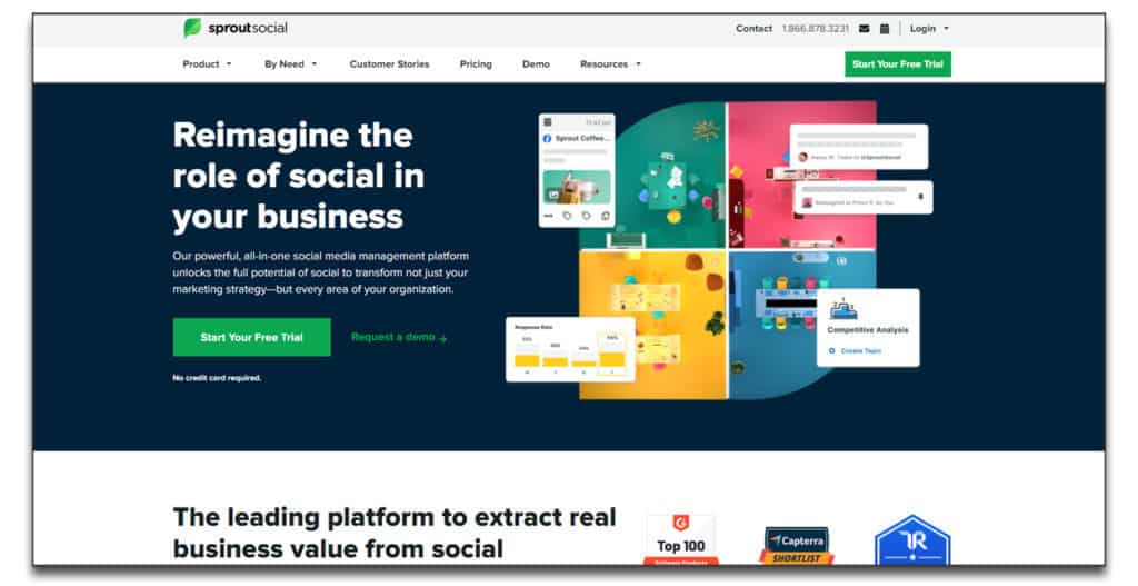 sprout social social management review