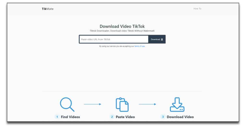 tikmate How to download TikTok videos