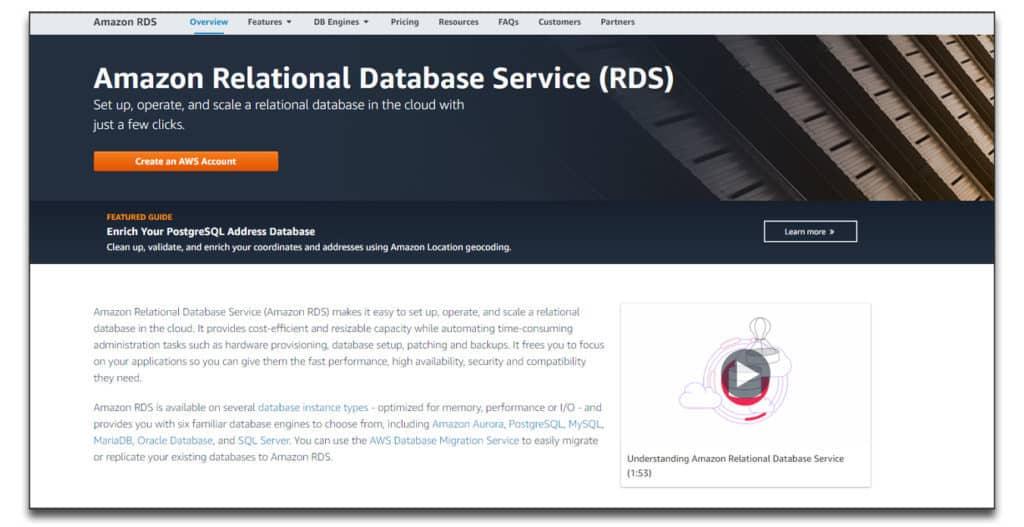 amazon relational database software