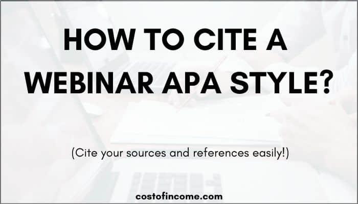 how to cite a webinar apa
