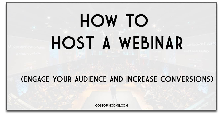 how to host a webinar