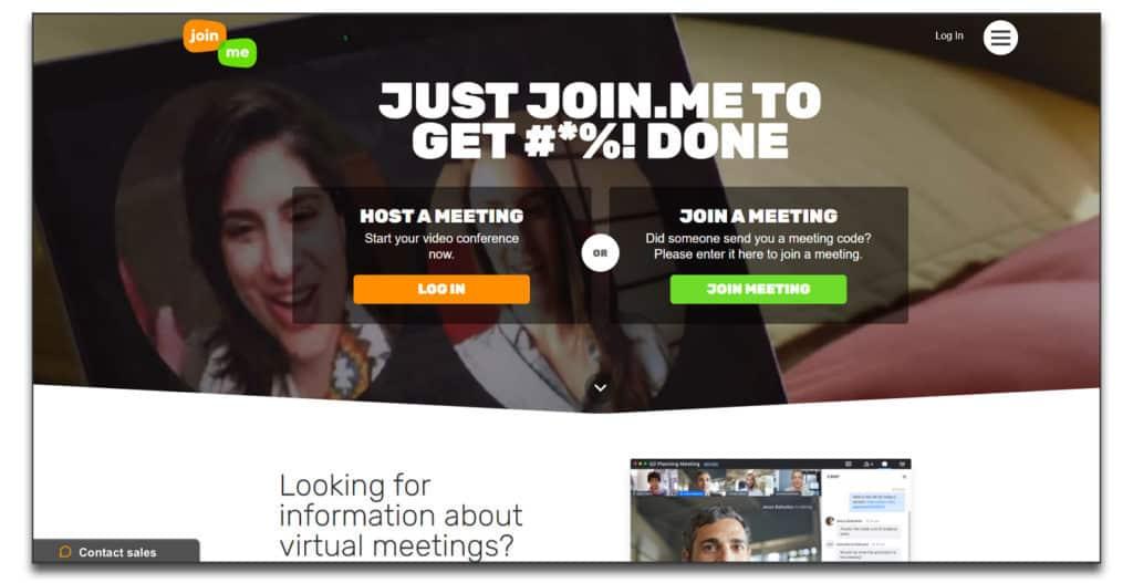 joinme free webinar software
